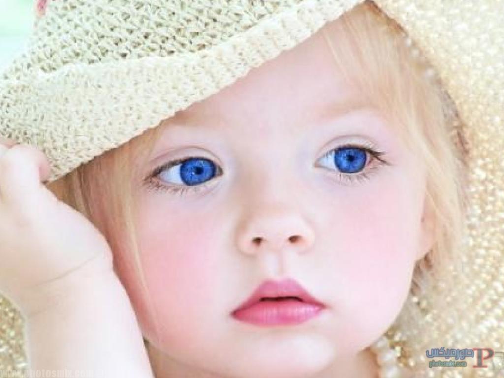 اطفال جميلة بعيون زرقاء 2