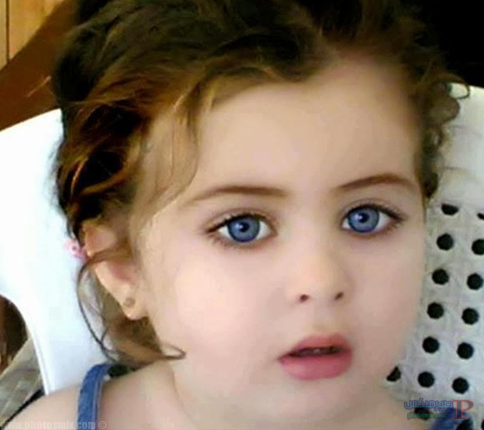 اطفال جميلة بعيون زرقاء 7