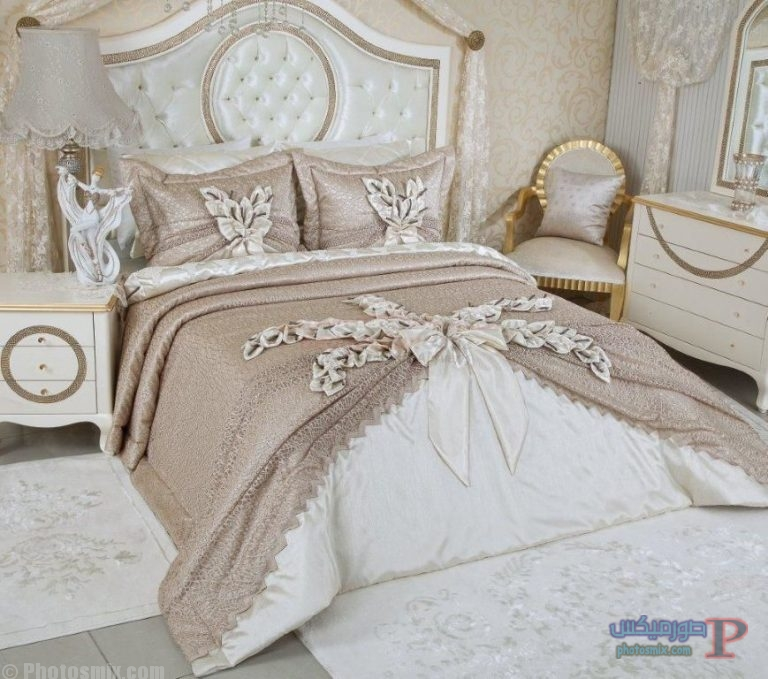 -مفارش-غرف-نوم-رومانسية-2 احلي مفارش سرير وسفرة  2018 , مفرش عرايس تركي , اروع مفارش للعروسة