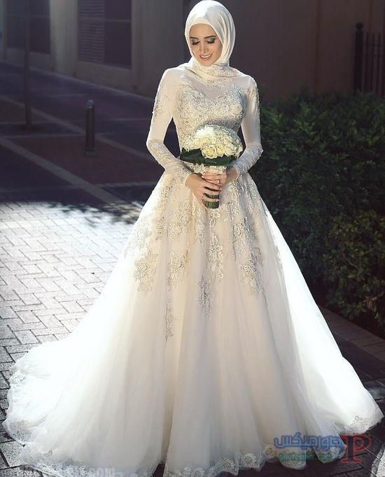 زفاف 2017 فساتين افراح للمحجبات فساتين ليله العمر 24