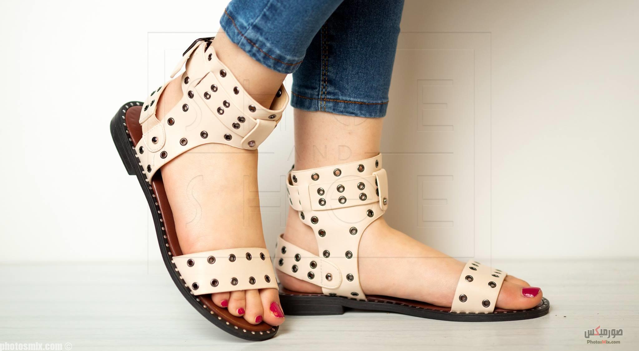 أحذية حريمي 105 - صور أحذية حريمي صيف 2019, صور أحذية بنات جديدة, صور أحذية حريمي فلات