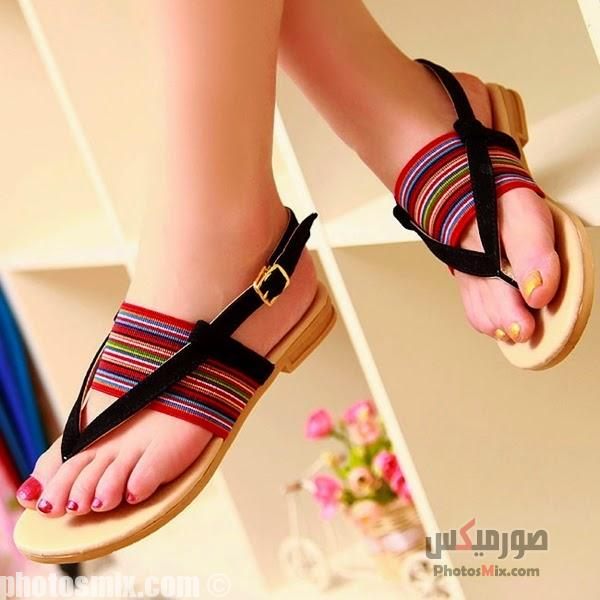 أحذية حريمي 11 - صور أحذية حريمي صيف 2019, صور أحذية بنات جديدة, صور أحذية حريمي فلات