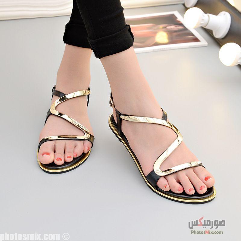 أحذية حريمي 3 - صور أحذية حريمي صيف 2019, صور أحذية بنات جديدة, صور أحذية حريمي فلات