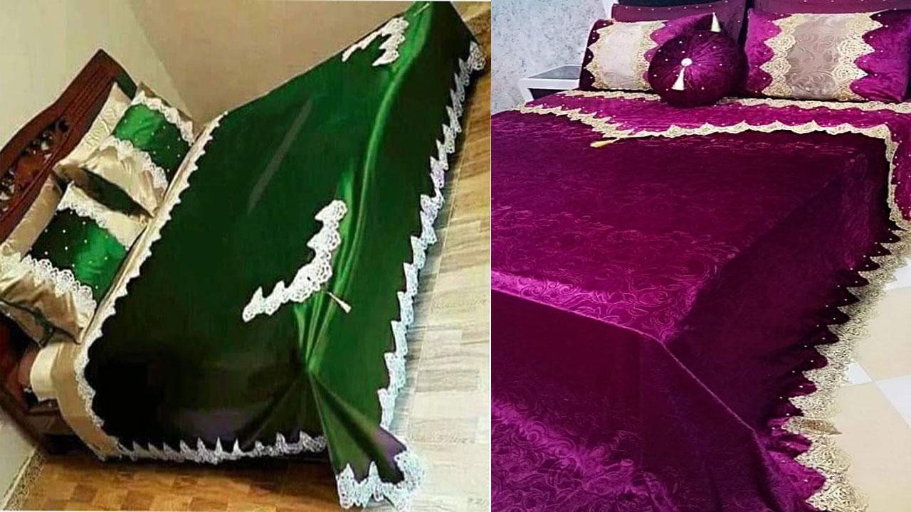 احلي مفارش سرير وسفرة 2020 مفرش عرايس تركي اروع مفارش للعروسة 13