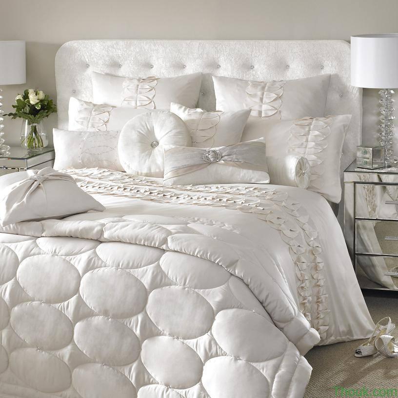 احلي مفارش سرير وسفرة 2020 مفرش عرايس تركي اروع مفارش للعروسة 21