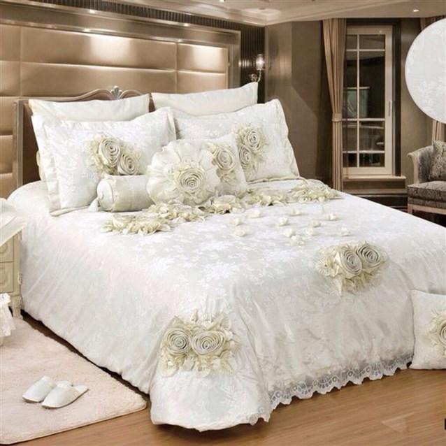 احلي مفارش سرير وسفرة 2020 مفرش عرايس تركي اروع مفارش للعروسة 33
