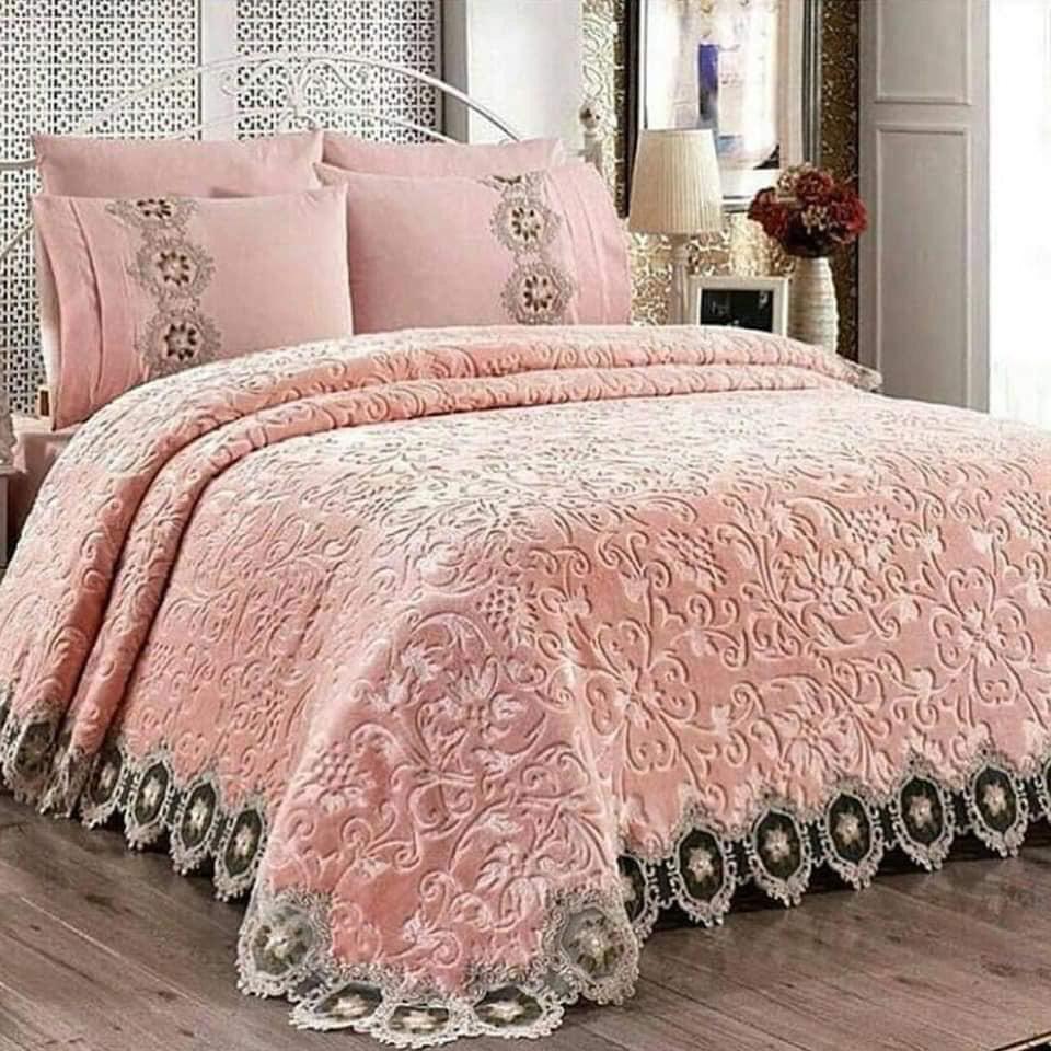 احلي مفارش سرير وسفرة 2020 مفرش عرايس تركي اروع مفارش للعروسة 4