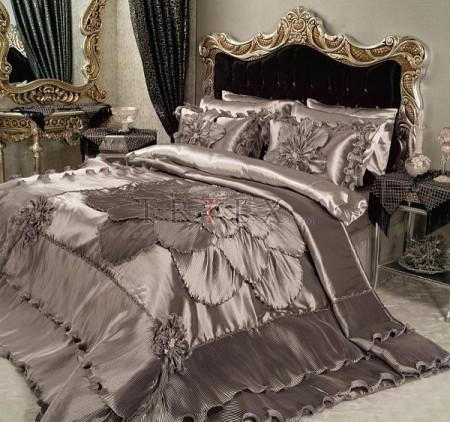 احلي مفارش سرير وسفرة 2020 مفرش عرايس تركي اروع مفارش للعروسة 40