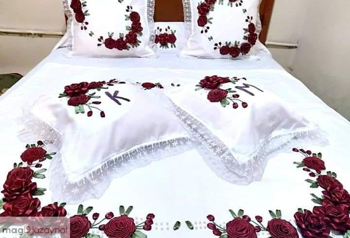 احلي مفارش سرير وسفرة 2020 مفرش عرايس تركي اروع مفارش للعروسة 49
