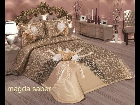 احلي مفارش سرير وسفرة 2020 مفرش عرايس تركي اروع مفارش للعروسة 62