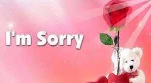 رسائل اعتذار وندم