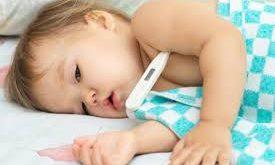 ارتفاع حرارة الاطفال