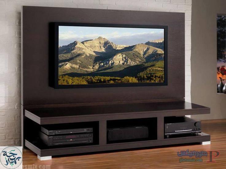 -لركن-التليفزيون-42 بالصور افكار ديكورات لركن التليفزيون , صور مكتبة تلفزيون خشب جبسن بورد