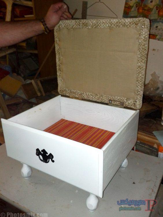 -لاعاده-استخدام-الادراج-القديمه-5 افكار ديكور خشب والصناديق الخشبية