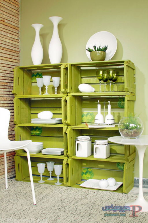 -استخدام-الصناديق-الخشبيه-ف-ديكور-منزلك-1 افكار ديكور خشب والصناديق الخشبية
