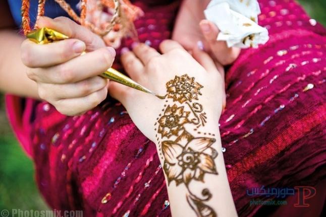 -ازياء-ديكورات-ونقوش-ليله-الحنه-5 صور حنة عروس اجمل صور يوم الحنة ويوم الفرح