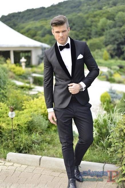 141019061706384 صور بدلة رجالي للعريس 2018، أحدث ستايل بدل كلاسيك، بدل سوداء 2018، بدلة العريس