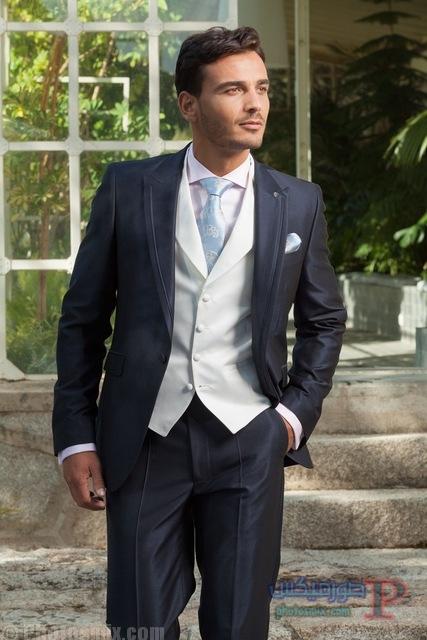 Charcoal-one-button-men-s-bespoke-suits-Wedding-suit-for-men-Groom-Tuxedos-Groomsman-Suit-Jacket.jpg_640x640 صور بدلة رجالي للعريس 2018، أحدث ستايل بدل كلاسيك، بدل سوداء 2018، بدلة العريس