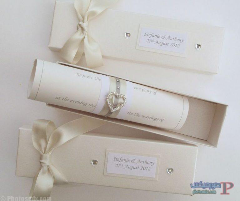 ce8414484fb202a579069ca8d2e448aa89b3aa70 بالصور أفضل 25 دعوة زواج 2018  بطاقات زواج للعروسين صور كروت أفراح 2018 أفكار تصاميم دعوة الزواج