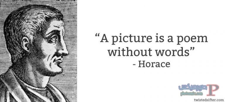 horace-picture-is-poem-without-words خلفيات عن الفن، Art Quotes, بوستات فيسبوك بالانجليزي للرسامين والفنانين