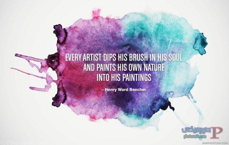 inspirational-quotes-08 خلفيات عن الفن، Art Quotes, بوستات فيسبوك بالانجليزي للرسامين والفنانين