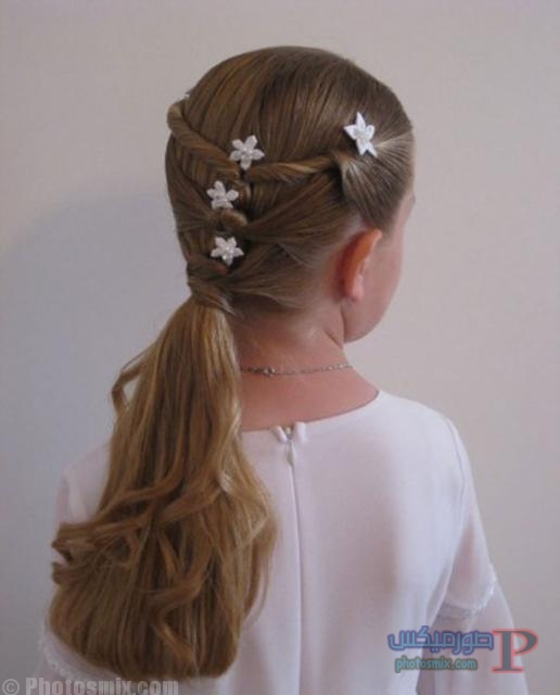 اجمل صور لقصات الشعر الطويل للاطفال 7