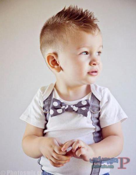 صور قصات وتسريحات للاولاد اطفال 18
