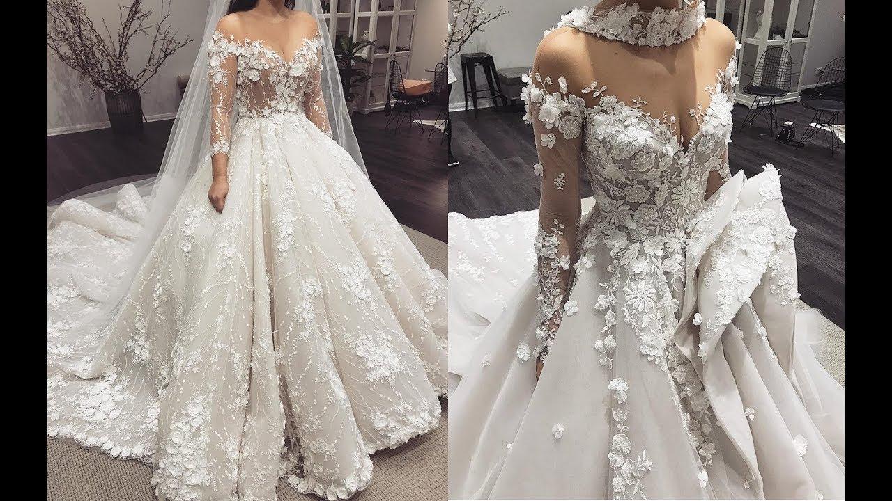 أحدث فساتين زفاف
