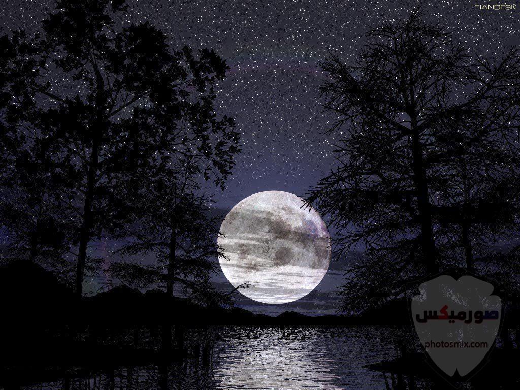 خلفيات القمر والبحر خلفيات ليل وقمر خلفيات ليليه روعه خلفيات قمر وبنت 5