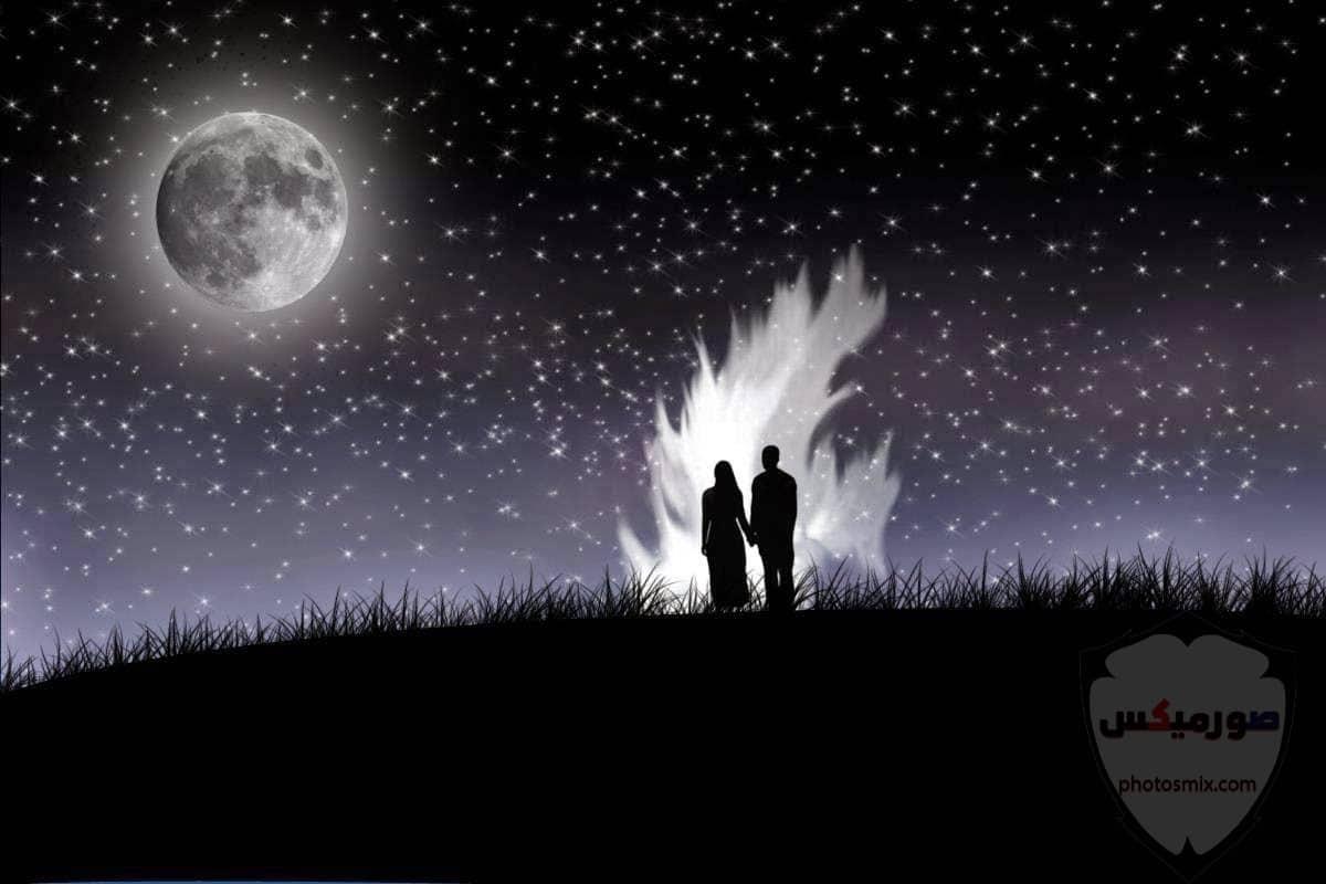 خلفيات قمر وبحر خلفيات القمر والنجوم خلفيات قمر للايفون 6
