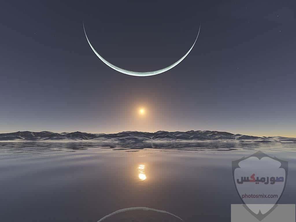 صور القمر العملاق رمزيات عن القمر العملاق صور قمر وسط النجوم 1