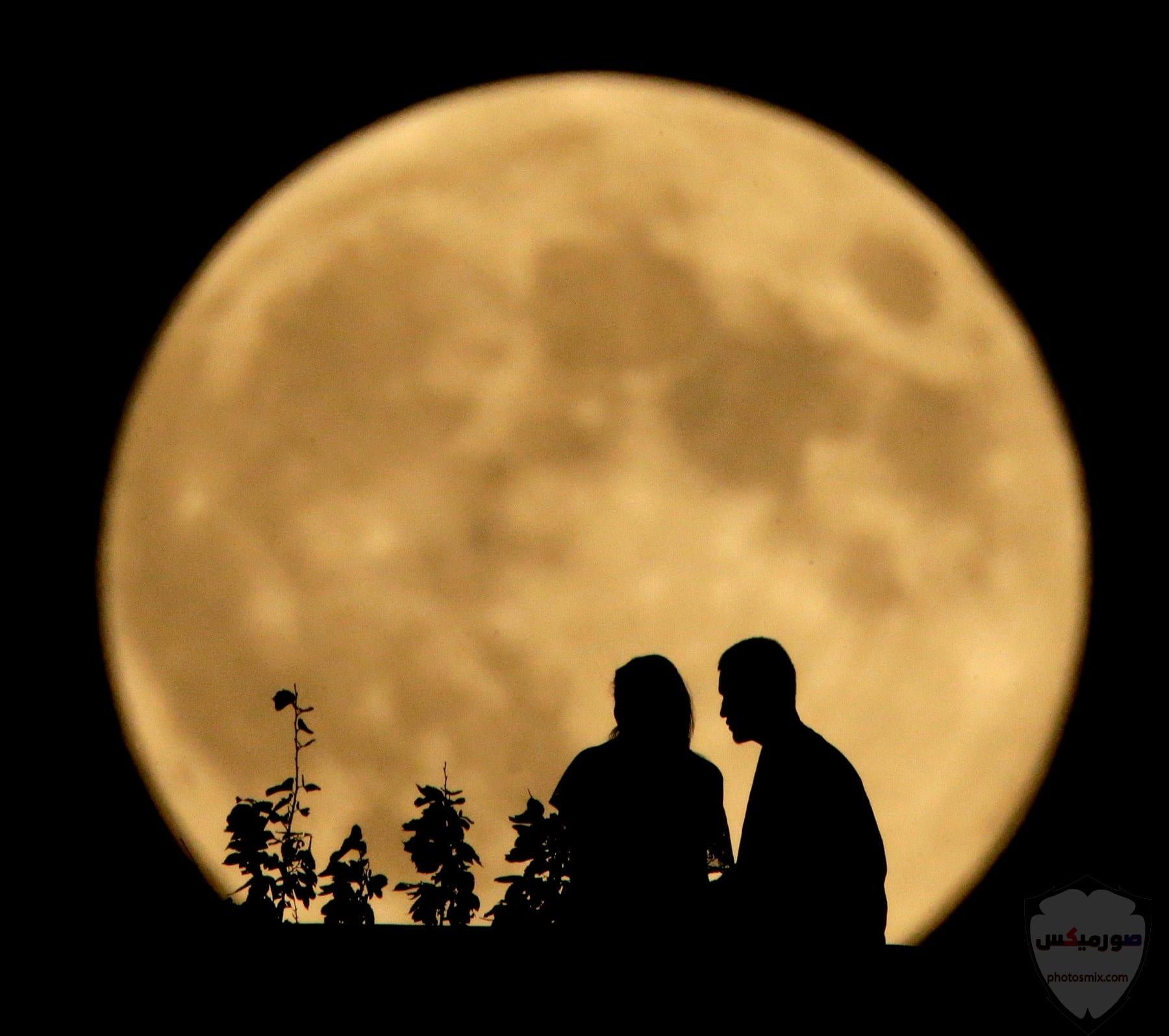 صور القمر العملاق رمزيات عن القمر العملاق صور قمر وسط النجوم 10