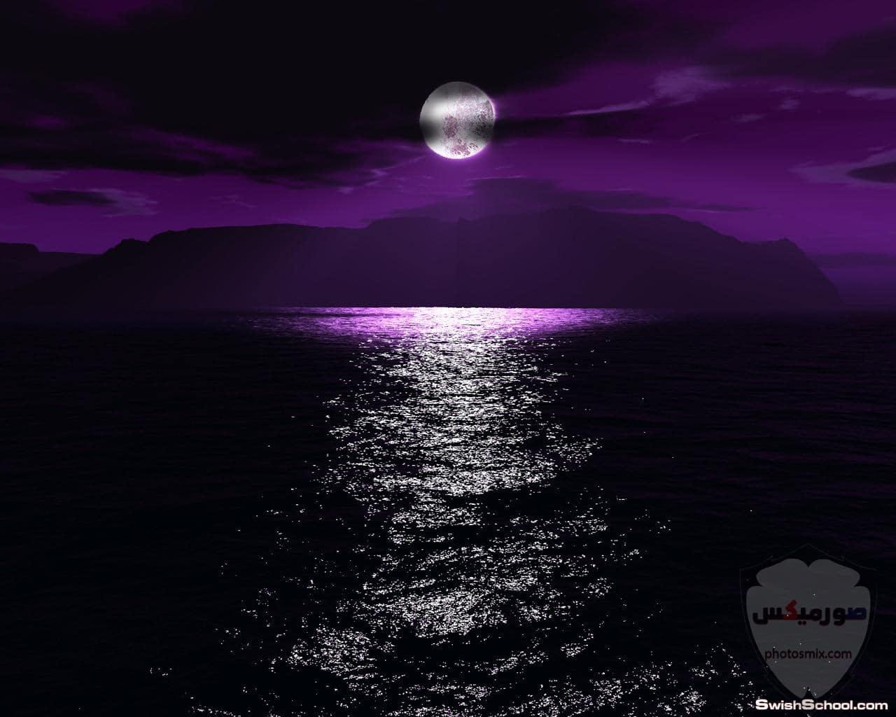 صور القمر العملاق رمزيات عن القمر العملاق صور قمر وسط النجوم 6