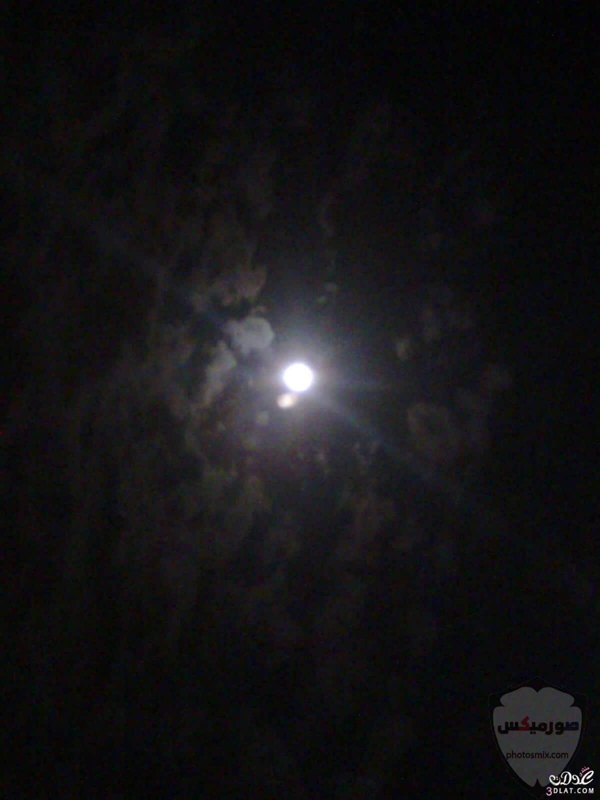 صور القمر العملاق رمزيات عن القمر العملاق صور قمر وسط النجوم 8