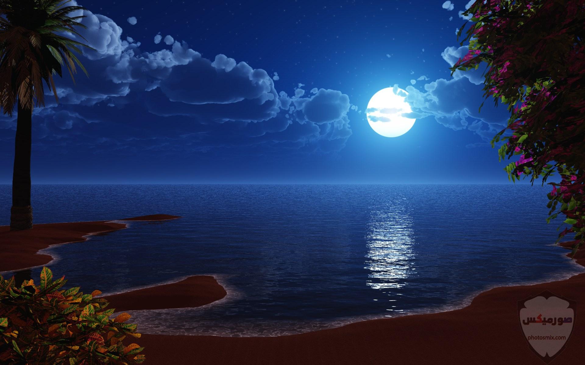 صور القمر والسماء والنجوم خلفيات للقمر والبدر والهلال عالية الجودة 14