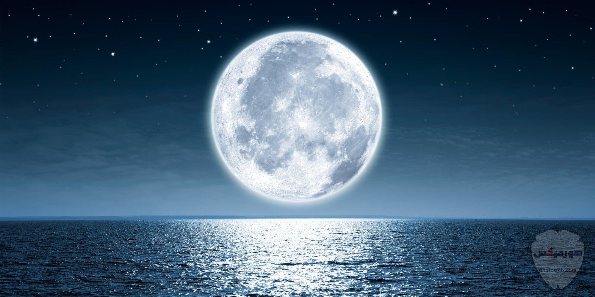 صور القمر والسماء والنجوم خلفيات للقمر والبدر والهلال عالية الجودة 21