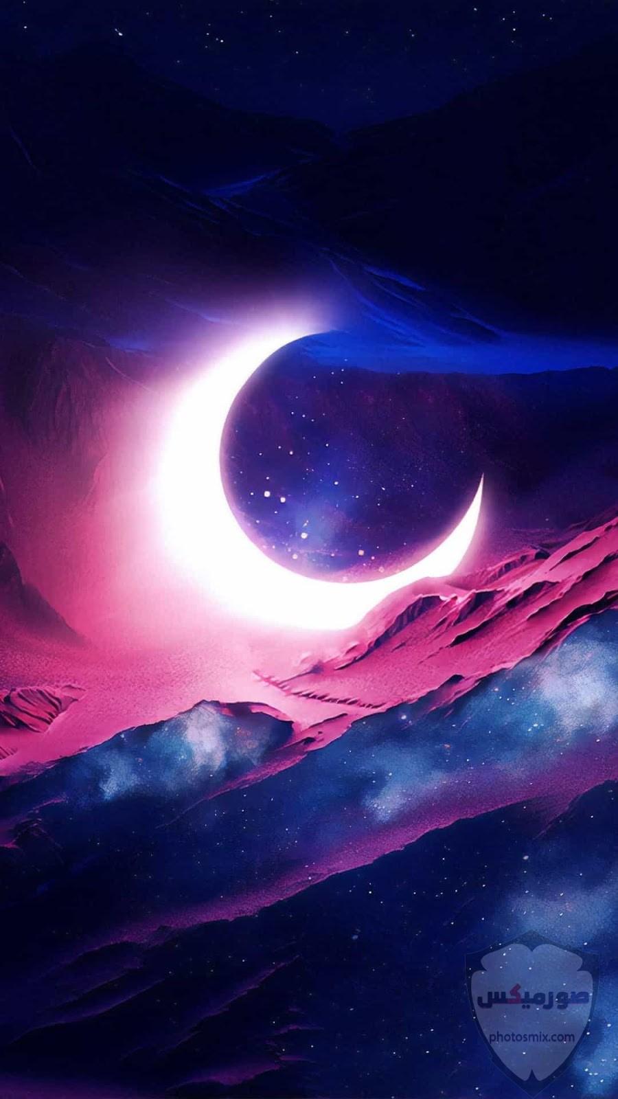 صور القمر والسماء والنجوم خلفيات للقمر والبدر والهلال عالية الجودة 7