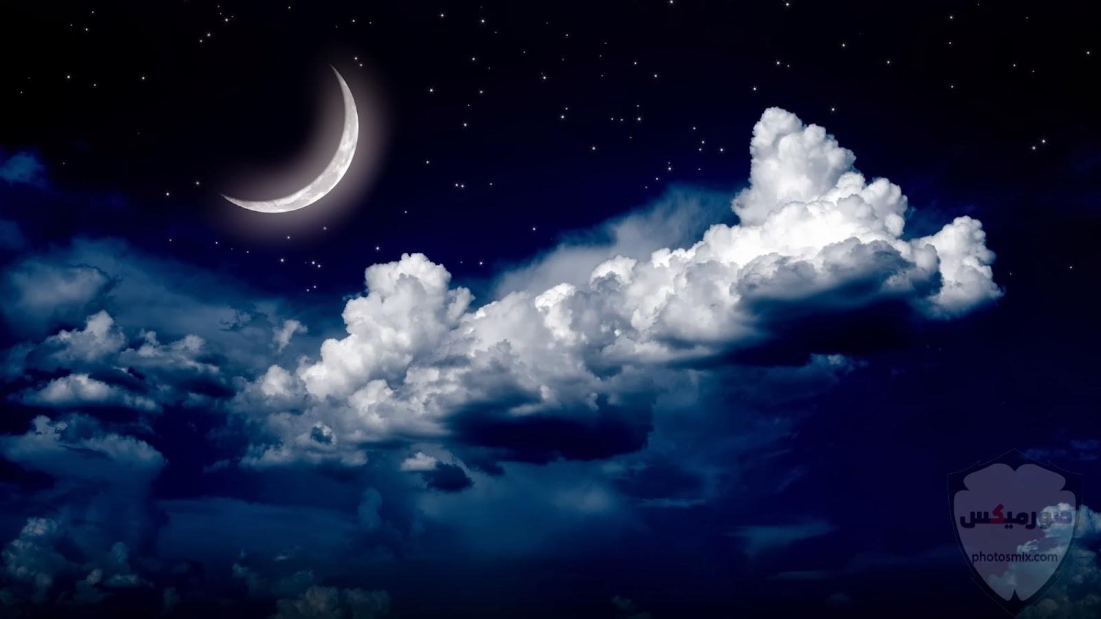 صور القمر والسماء والنجوم خلفيات للقمر والبدر والهلال عالية الجودة 9