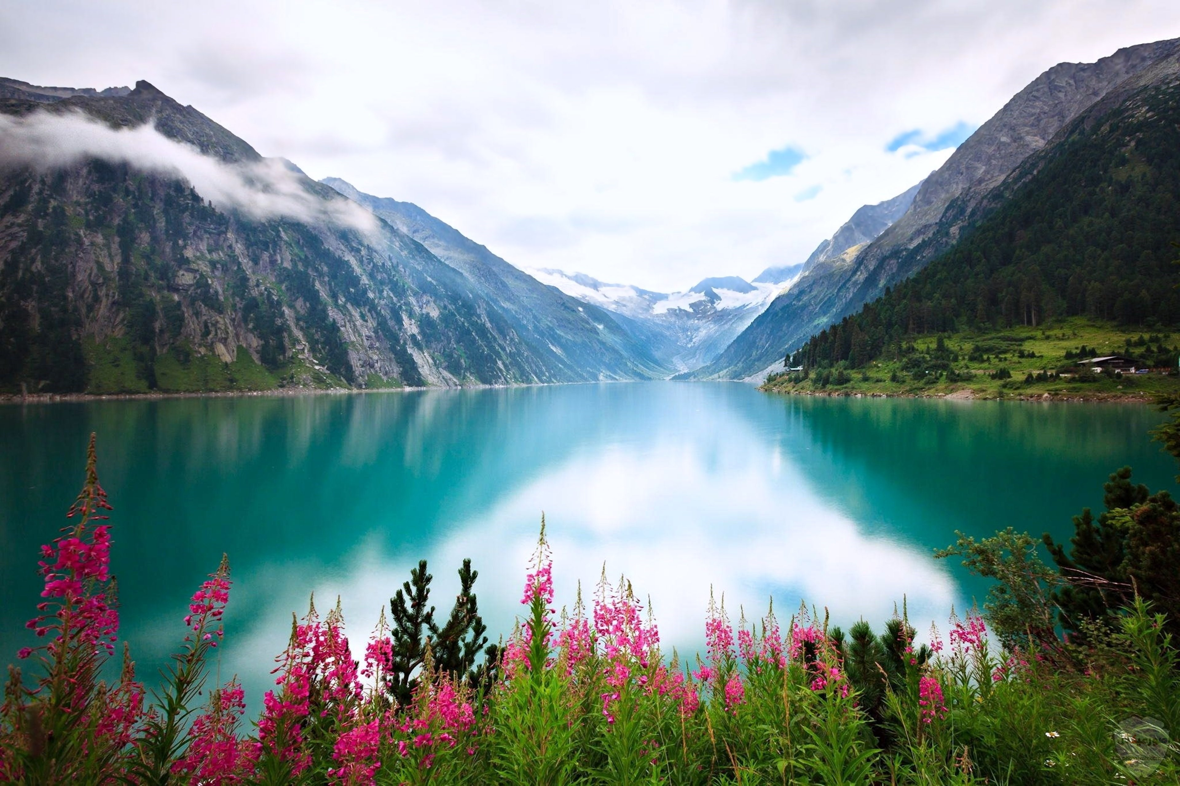 صور وخلفيات جبال وشلالات طبيعية HD خلفيات جبال خضراء وثلجية 1