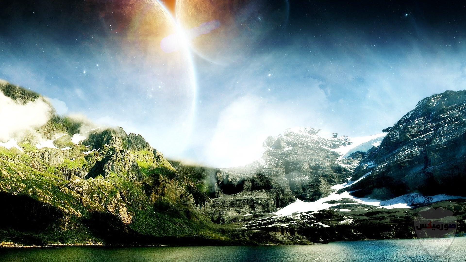 صور وخلفيات جبال وشلالات طبيعية HD خلفيات جبال خضراء وثلجية 7