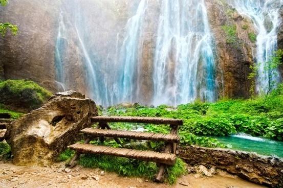 خلفيات طبيعية جميلة خليفات مياه وشلالات خلفيات خضراء 5
