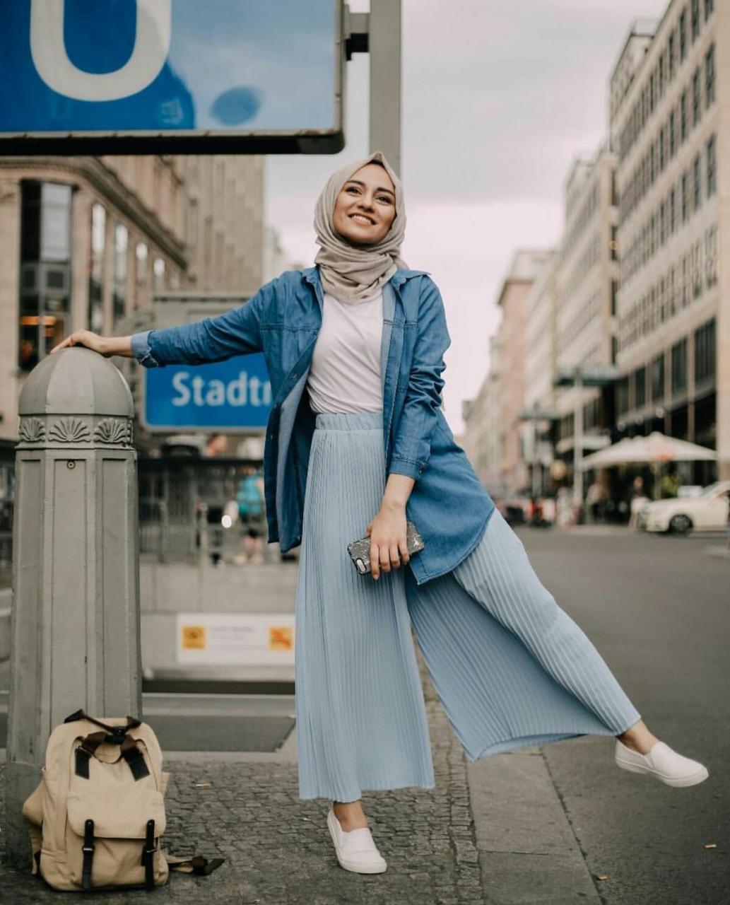 ازياء بنات محجبات 2020 ازياء محجبات احدث ستايلات حجاب 19