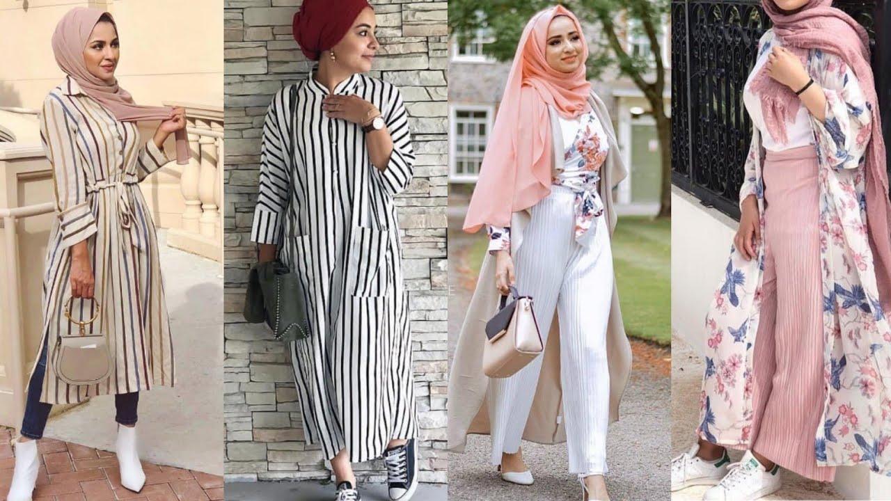 ازياء بنات محجبات 2020 ازياء محجبات احدث ستايلات حجاب 36