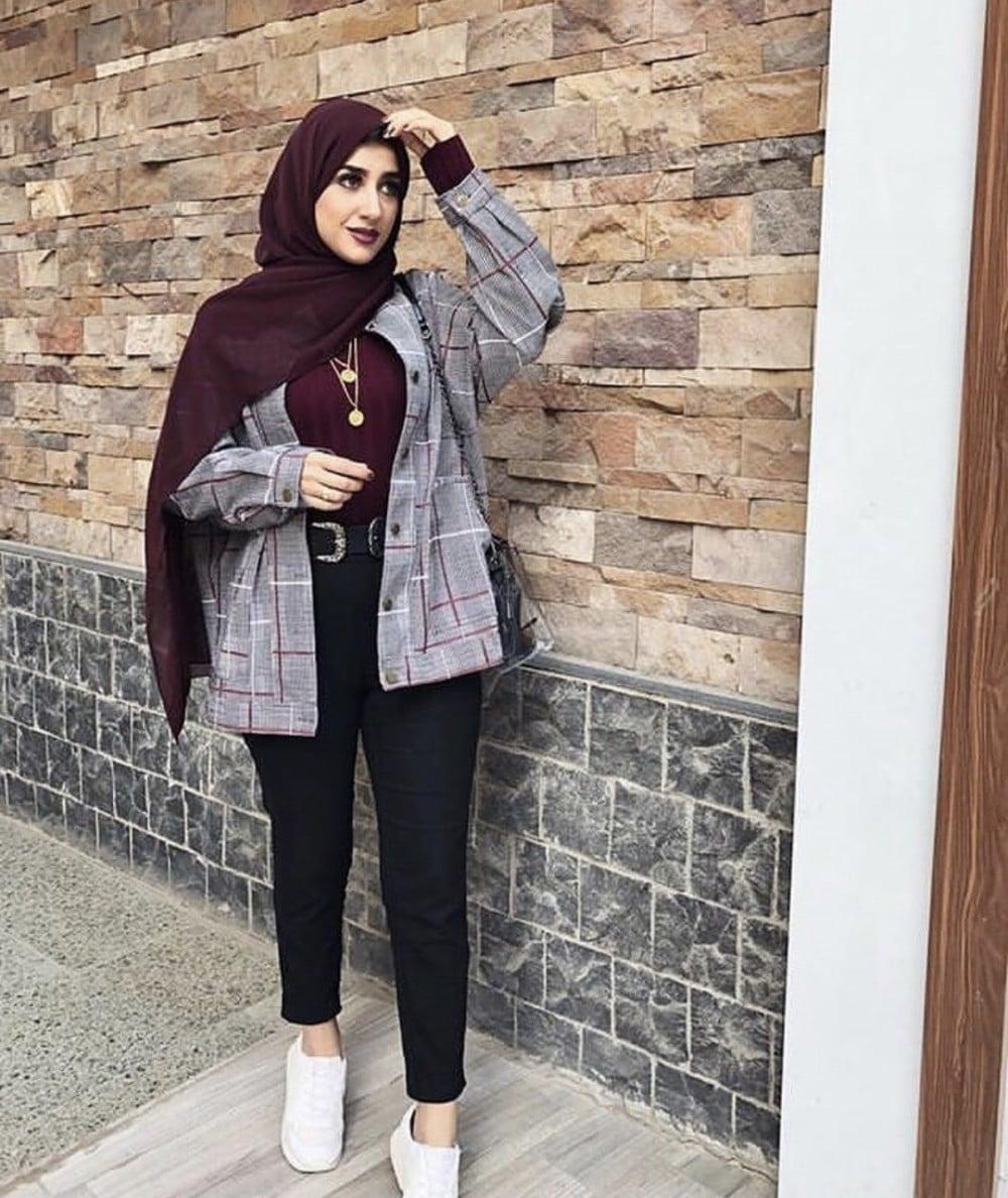 ازياء بنات محجبات 2020 ازياء محجبات احدث ستايلات حجاب 60