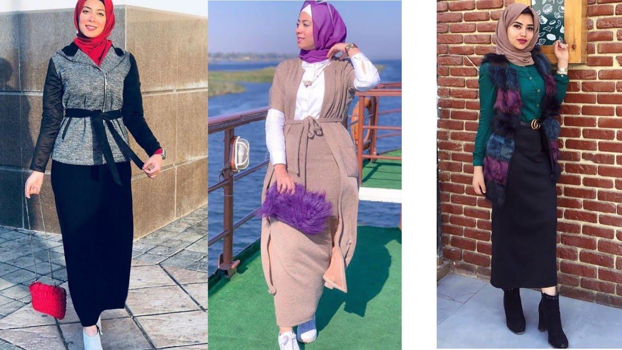 ازياء بنات محجبات 2020 ازياء محجبات احدث ستايلات حجاب 73