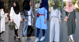 ازياء بنات محجبات 2020 ازياء محجبات احدث ستايلات حجاب 74