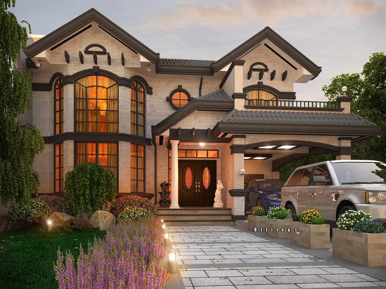 تصاميم منازل 2020 36