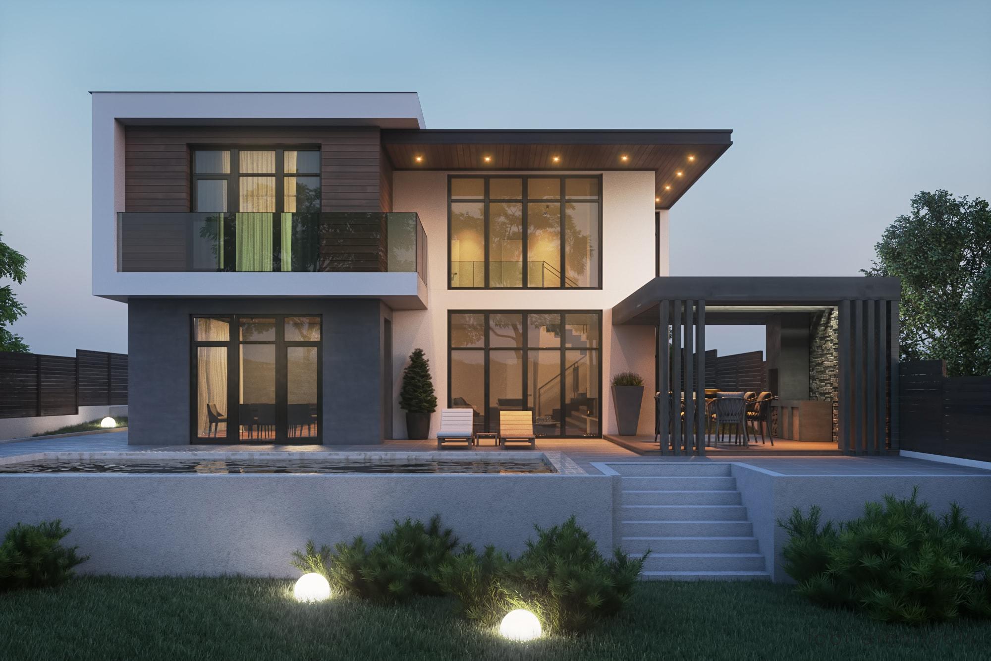 تصاميم منازل 2020 49