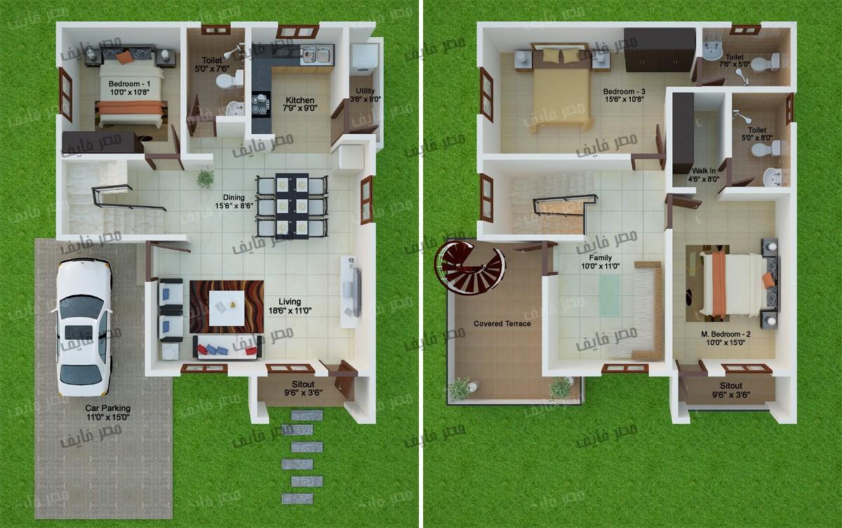 تصاميم منازل 2020 56