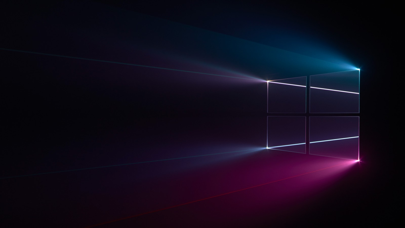 windows 10 1600x900 windows logo blue pink dark hd 10954